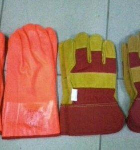 Продаю перчатки спилковые утепленные