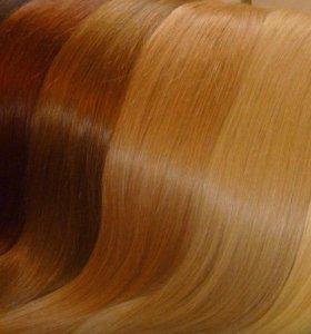 натуральные волосы славянка lux на заколках