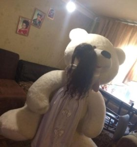 Новый огромный Плюшевый медведь!!