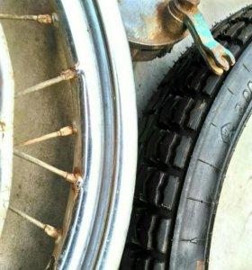 Ретро мото колесо 18