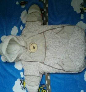 Конверт для новорожденных на подкладке из овечьей