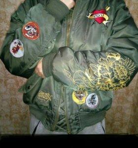 Двусторонняя демисезонная 46-48 куртка