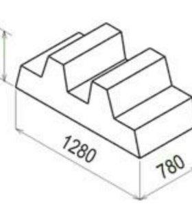 Блок фундамента под забор