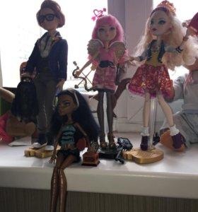 куклы monster high; еver after high