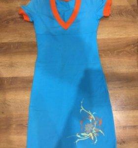 Трикотажное платье для дома