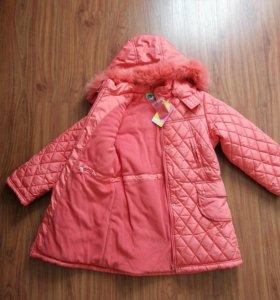 Утепленное пальто на девочку