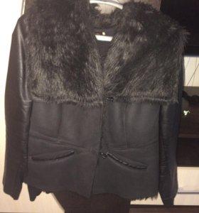 Куртка замшевая с кожей и мехом
