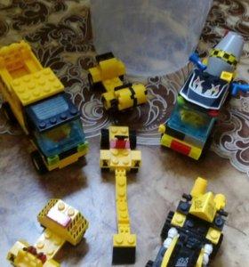 Лего строительная техника+ тележка +подарок