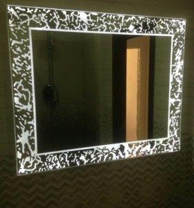 Зеркало и полки в ванные комнаты по вашим размерам