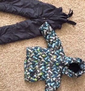 Зимний комбинезон с курткой и жилеткой