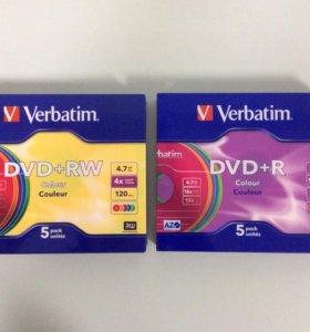 DVD RW и DVD R VERBATIM 4.7Гб - 10 новых дисков