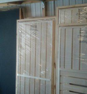 Двери для бани деревянные и стеклянные