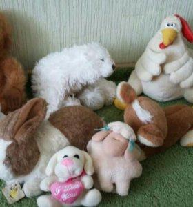 мягкие игрушки(цена за все)