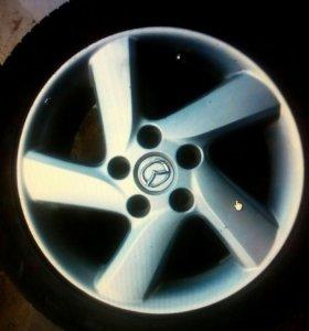 Литые диски Mazda с резиной R16 205/55