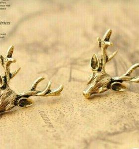 Сережки олень