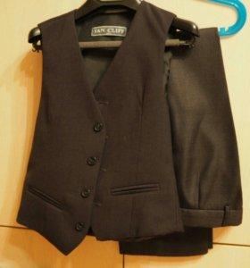 Школьный костюм из трех предметов серого цвета VAN