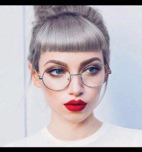 Новые очки с прозрачными стёклами