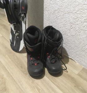 Сноуборд +крепления с ботинками