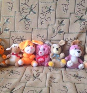 Продам мягкие игрушки б.у торг уместен