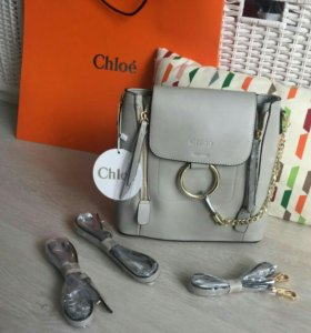 Женский рюкзак сумка хлое маленький рюкзачок chloe