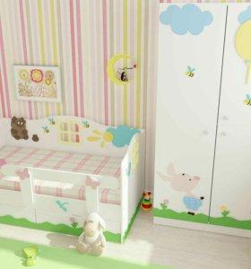 Кроватка детская Винни Пух. Новая в коробке.