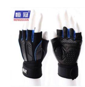Перчатки спортивные с напульсником HengGuan