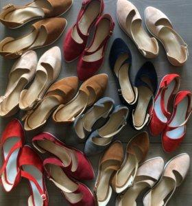 Обувь из натуральной замши, лака, кожи ручной рабо