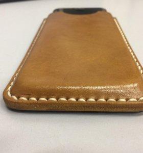 Кожаный чехол на IPhone 7 ручной работы