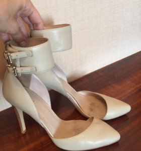 Туфли кожаные maskotte с ремешком вокруг щиколотки