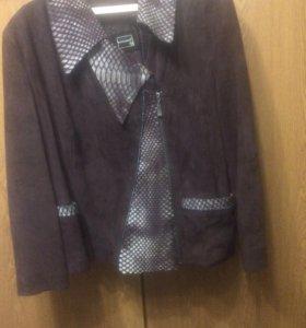 Куртка из замши с отделкой