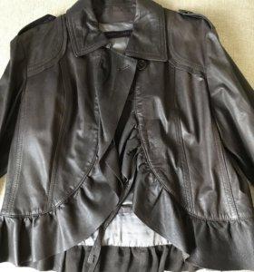 Куртка кожаная новая