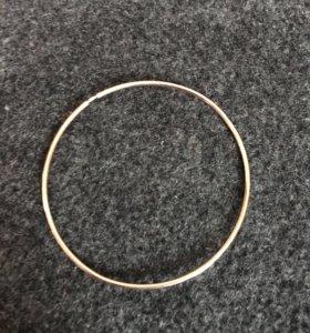 Кольцо серьга золотое