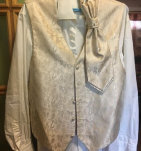 Рубашка мужская с жилетом