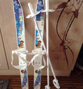 Лыжи детские новые