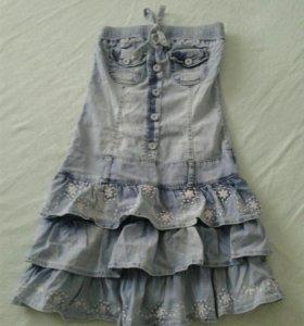 Сарафан джинсовый размер40-42
