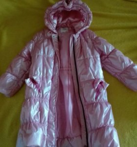 Розовая пальто-куртка