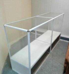 Прилавок металл-стекло