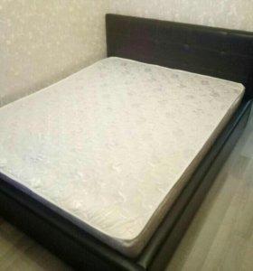 """Кровать из экокожи """"Черная роза"""" 180*200"""