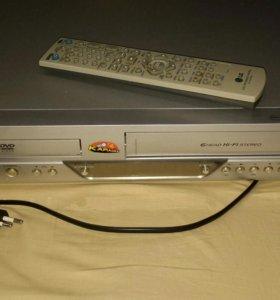 DVD + VHC проигрыватель LG