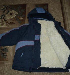 Шикарная зимняя куртка с мех. жилеткой