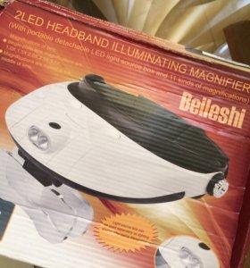 Лампа + лупа на голову