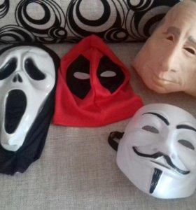 Маски Deadpool, Путин, Крик, V-Вендетта