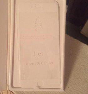 Защитное стекло 3d на айфон 6+