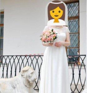 Свадебное платье + курточка