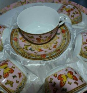 Набор чайный - чашки+блюдца новый