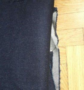 Отрез ткани джинсовой