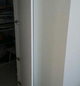 Зеркальная белая дверь.новая!