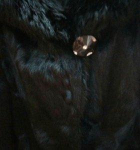 Шуба( козлик) капюшон нутрия