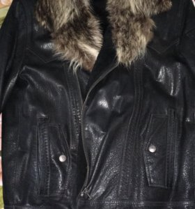 Зимняя мужская куртка на овчине