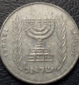 """Монета Израиля, 5 агорот 1980 """"минора"""""""